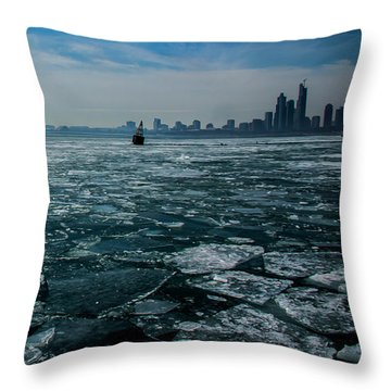 Chicago In Winter Throw Pillow