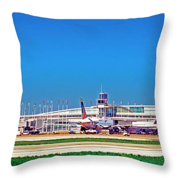 Chicago, International, Terminal Throw Pillow