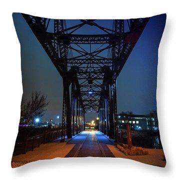 Chicago Railroad Bridge Throw Pillow