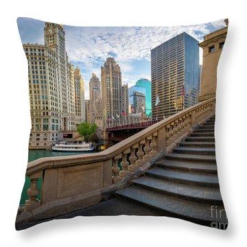 Chicago Riverwalk  Throw Pillow