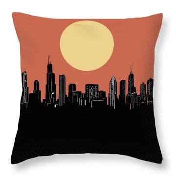 Chicago Skyline Minimalism 4 Throw Pillow