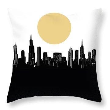 Chicago Skyline Minimalism Throw Pillow