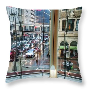 Throw Pillow featuring the photograph Chicago Streets by Rosanne Licciardi
