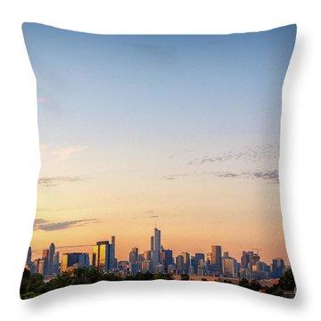 Chicago Sunrise Throw Pillow
