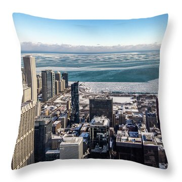 Chicago View Angled Throw Pillow