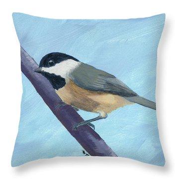 Chickadee 1 Throw Pillow