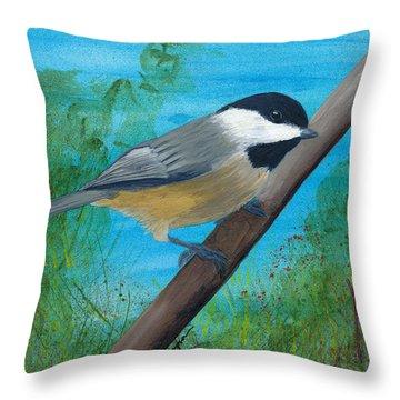 Chickadee 2 Throw Pillow