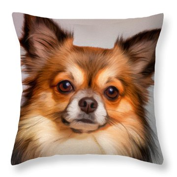 Chiwawa Portrait Throw Pillows