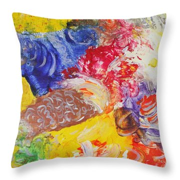 Child Laughter Throw Pillow