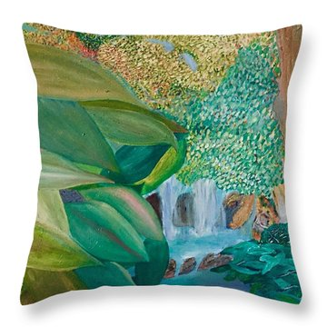 Childhood Sites Throw Pillow