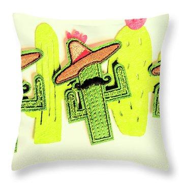 Chili Con Cacti Throw Pillow