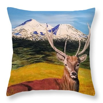Throw Pillow featuring the painting Chillin' by Kevin Daly