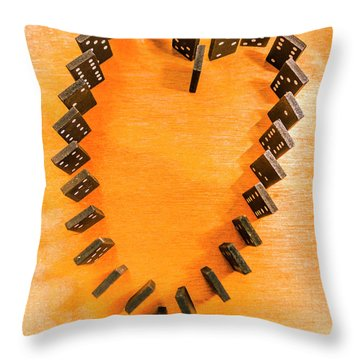 Chips Are Stacked Throw Pillow
