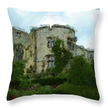 Chirk Castle Painting Throw Pillow