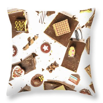 Chocolate Bar Break Throw Pillow