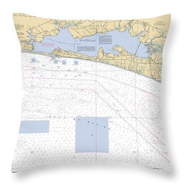 Choctawhatchee Bay Noaa Chart 11388 Throw Pillow