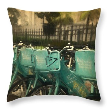 Choose Your Ride Throw Pillow