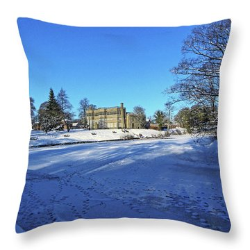 Chorley. Astley Hall In The Snow Throw Pillow