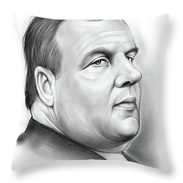 Chris Christie Throw Pillow