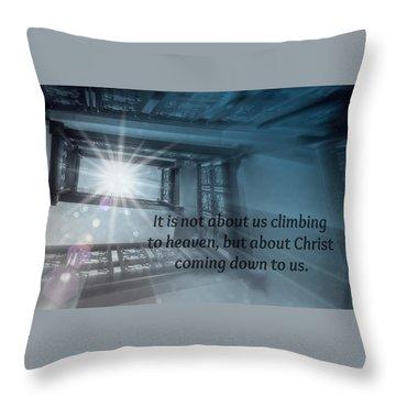 Christ Alone Throw Pillow