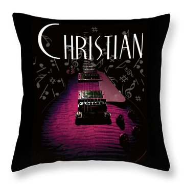 Christian Music Guita Throw Pillow
