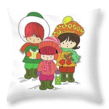 Christmas Angels Throw Pillow