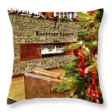Christmas At Woodford Reserve Throw Pillow