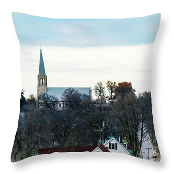 Christmas Day Drive Throw Pillow
