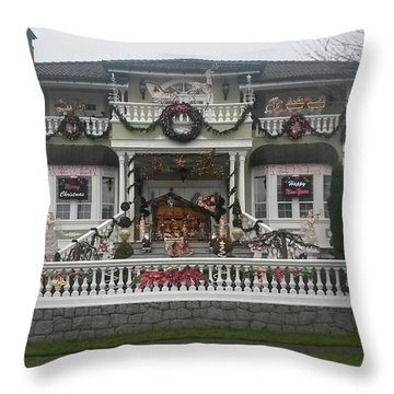 Throw Pillow featuring the photograph Christmas Decoration by Juan Contreras