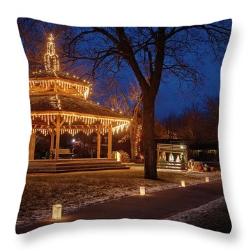 Christmas Eve In Dexter Throw Pillow