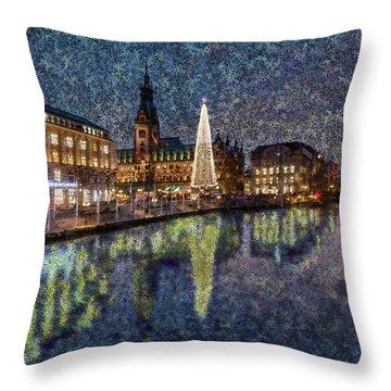 Christmas Hamburg Throw Pillow