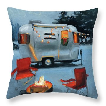 Christmas In The Snow Throw Pillow