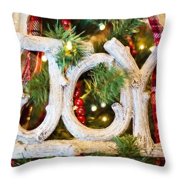 Throw Pillow featuring the photograph Christmas Joy by Top Wallpapers