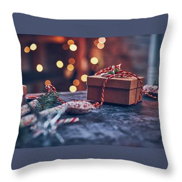 Christmas Pesent Throw Pillow
