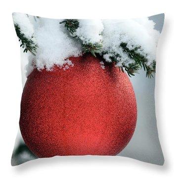 Christmas Tree, France Throw Pillow