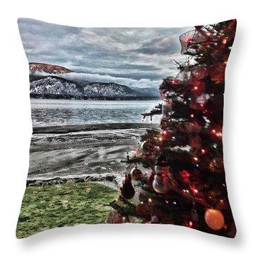Christmas View Throw Pillow