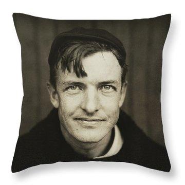 Christy Mathewson Portrait Throw Pillow