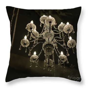 Chrystal Lights Throw Pillow