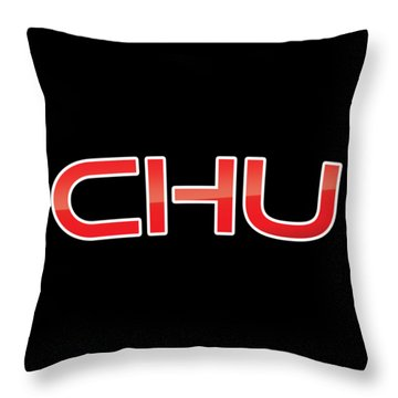 Throw Pillow featuring the digital art Chu by TintoDesigns