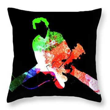 Chuck Watercolor II Throw Pillow