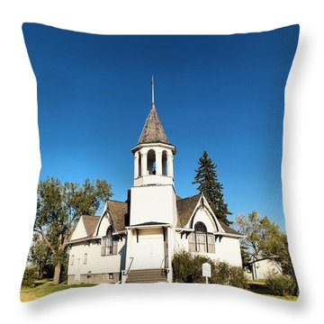 Church In Saskatchewan  Throw Pillow