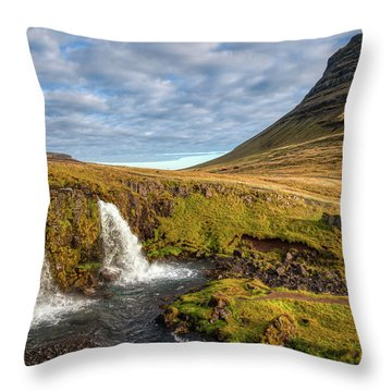 Church Mountain Throw Pillow