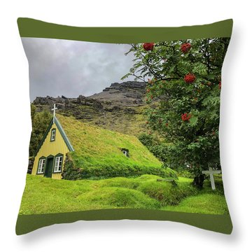 Church Of The Holy Moss Throw Pillow