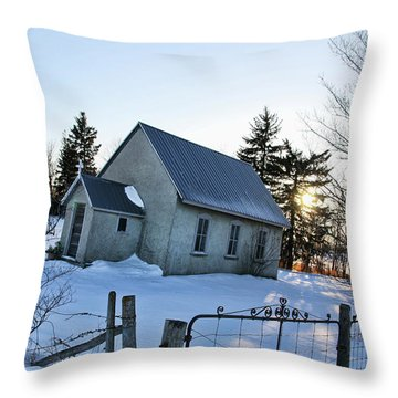 Church On Brewer Road Throw Pillow