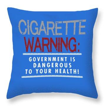 Cigarette Warning Throw Pillow