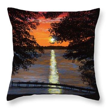 Cindy Beuoy - Lake Maxinkuckee Throw Pillow
