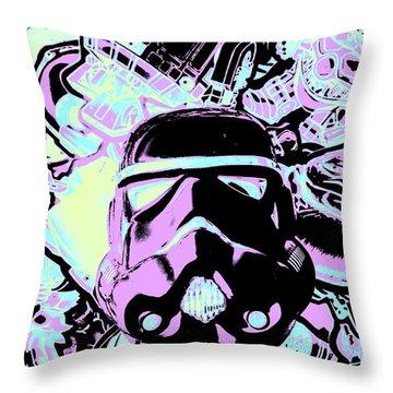 Cinematic Sci-fi Throw Pillow
