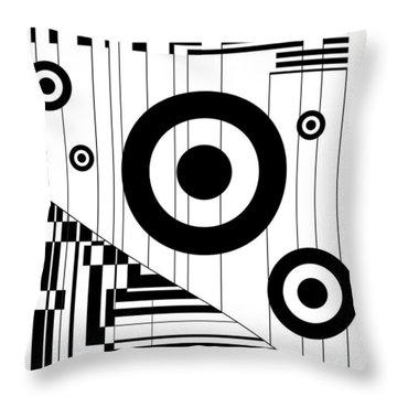 Circular Circles  Throw Pillow