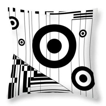Circular Circles  Throw Pillow