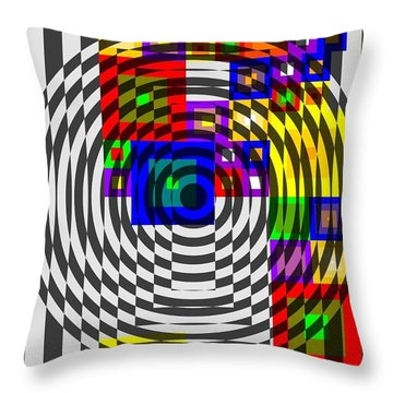 Circular Colour Fusion  Throw Pillow